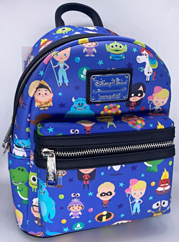 Disney Parks Loungefly World of Pixar Cuties Mini Backpack Wall E Incredibles +