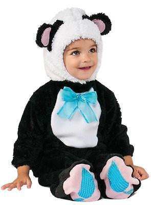Baby Costume Panda (RUBIE'S PANDA BEAR BABY COSTUME! BLACK & WHITE JUMPSUIT NEW [SIZE 12-18)