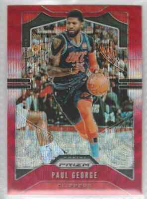 2019-20 Panini Prizm Basketball Red Wave Paul George 185 - $4.99