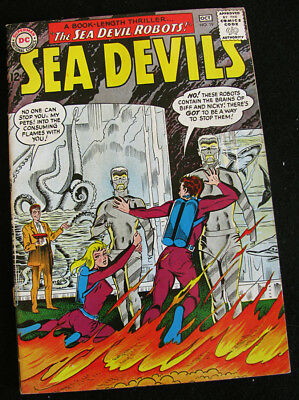 SEA DEVILS 19 (1964) THE SEA DEVIL ROBOTS! LOTS OF LARGE PHOTOS! FN/VF