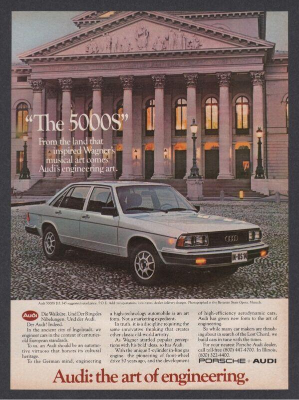 1981 Audi 5000S Bavarian State Opera Munich Germany sedan photo vintage print ad