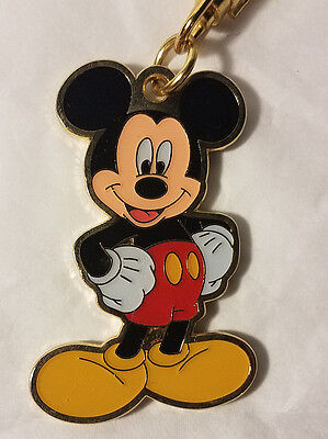Disney Parks Mickey Mouse Gold Metal Keychain - -