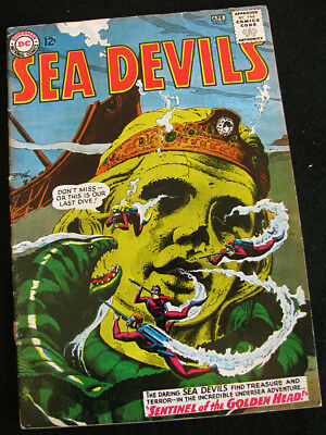 SEA DEVILS 16 (1964) A MYSTERIOUS DISAPPEARING ISLAND! LOTS OF LARGE PHOTOS! VG-