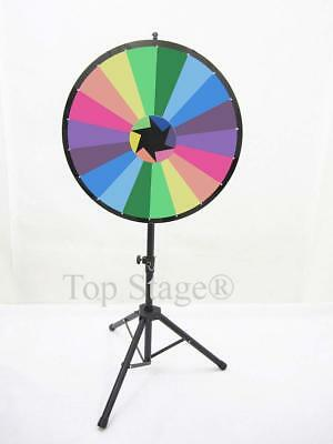Defect - 24 Prize Spin Wheel With Color Trade Show Fortune Game Spinner Stand