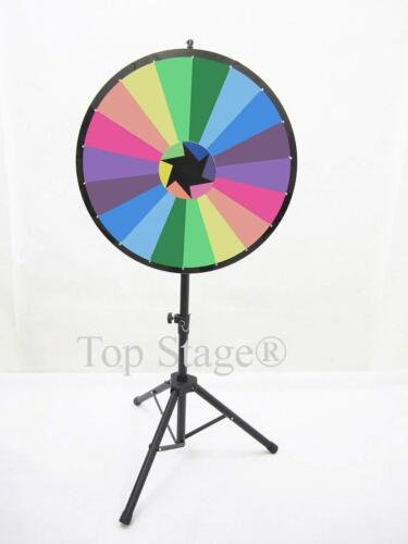 """Defect-no erasable-LARGE 24"""" Prize Spin Wheel, Trade Show Fortune Spinner"""
