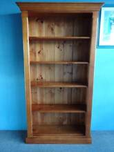 5 SHELF BOOKCASE DISPLAY ALL PINE TIMBER GOLDEN OAK STAIN STURDY Geebung Brisbane North East Preview
