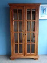 2 DOOR PANEL GLASS CHINA DISPLAY CABINET MAHOGANY TIMBER 4 SHELF Geebung Brisbane North East Preview