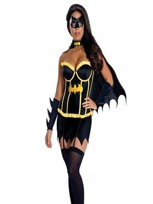 SEXY BAT GIRL LADIES DRESS UP COSTUME - HEN PARTY OUTFIT - HALLOWEEN -  UK 4-6 (Bat Lady Halloween Costume)