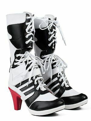 Batman DC Comics Suicide Squad Harley Quinn Cosplay Boots High Quality Costume!!