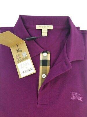 Burberry Brit Deep Purple Amethyst Short Sleeve Check Polo Shirt (Purple Burberry Polo)