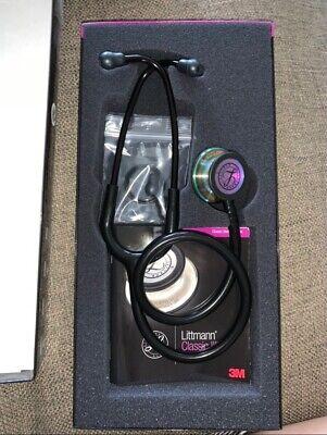 Littmann Classic Iii Stethoscope Black Tube With Rainbow Finish Chestpiece