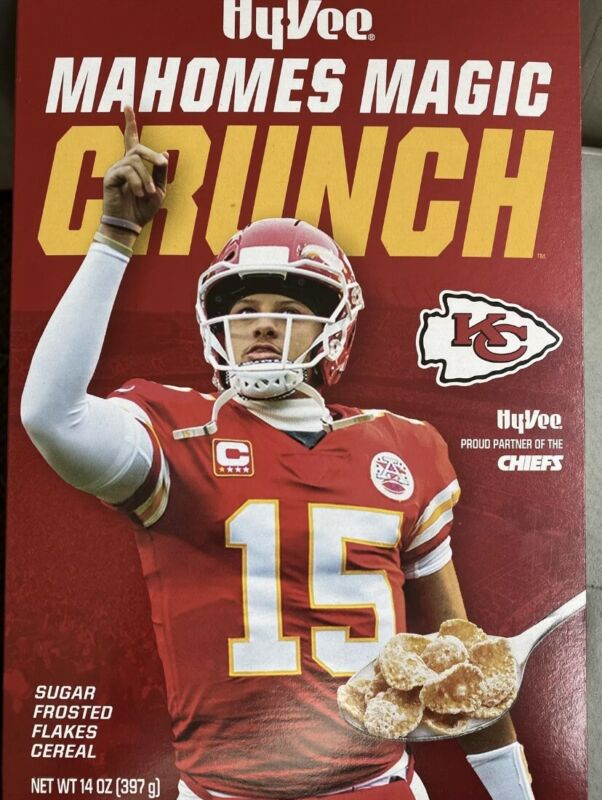 Patrick Mahomes Magic Crunch Cereal! LIMITED COLLECTORS Box NEW/SEALED-CHIEFS!