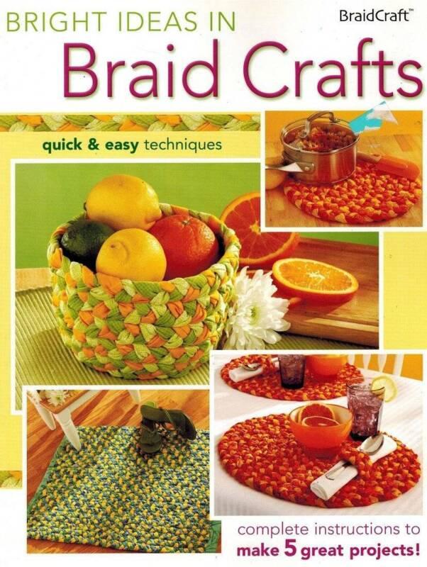 Bright Ideas in Braid Crafts PATTERN Book Beginners Guide Kitchen Accessories