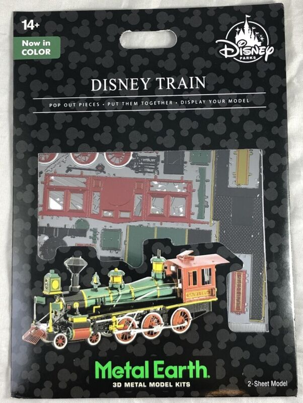 Disney Parks Train in Color Green Metal Earth 3D Model Kits NEW