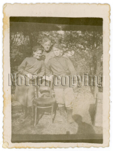 1940s WW2 Soviet Military Man Woman Red Army Close Occupation Russian Photo