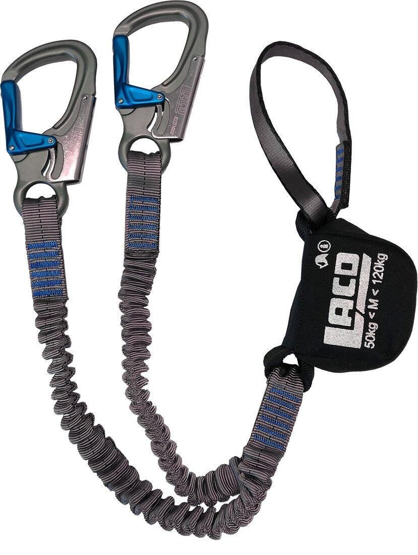 Klettersteigset LACD Ferrata Pro Evo blau Klettersteigbremse
