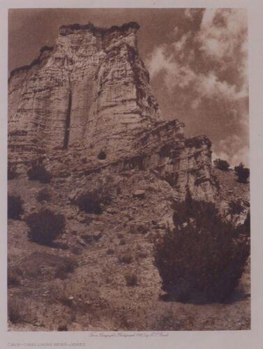Cave Dwellins Near Jemez - Edward Curtis 1925 Photogravure