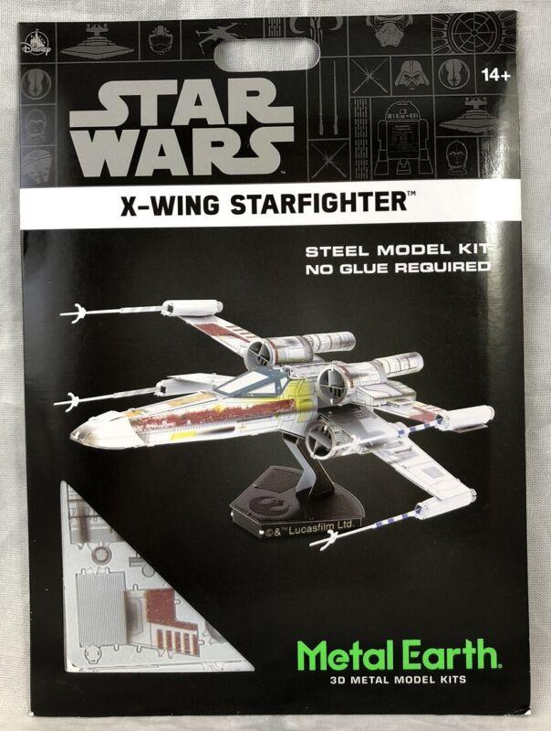 Disney Parks Star Wars X Wing Starfighter Steel Metal Earth 3D Model Kits - NEW