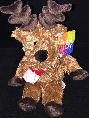 The Cheesecake Factory 2009 Share The Joy Pepper Reindeer Bean Bag Plush To From