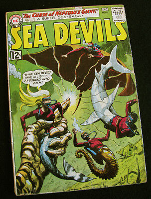 SEA DEVILS 8 (1962) VINTAGE UNDERWATER ADVENTURE! LARGE PHOTOS! GD/VG