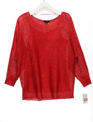 ALFANI NEW 23082 Metallic Dolman Sweater Womens Top L