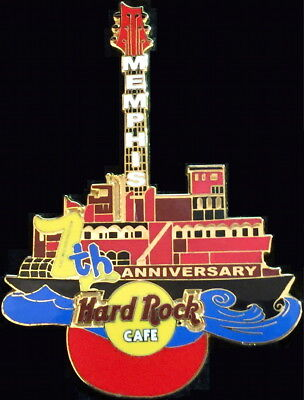 Hard Rock Cafe MEMPHIS 2004 7th Anniversary PIN Riverboat Red Guitar HRC #25686