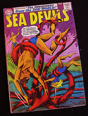 SEA DEVILS 18 (1964) THE SEA DEVIL CREATURES! LOTS OF LARGE PHOTOS! GD/VG