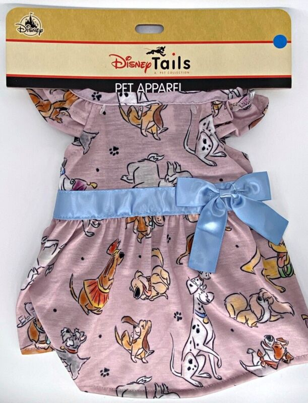 Disney Tails Dogs Pet Apparel Dress for Dogs Blue Ribbon Ladies XS Extra Small