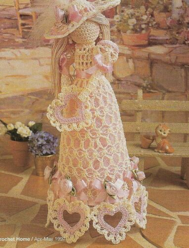 "SWEETHEART DOLL 12 1/2"" DIGEST SIZE CROCHET PATTERN INSTRUCTIONS"