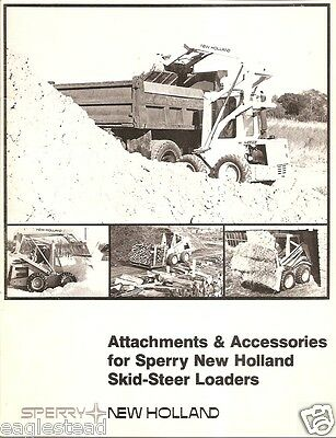 Equipment Brochure - Sperry New Holland - Skid Steer Loader Attachments E1382