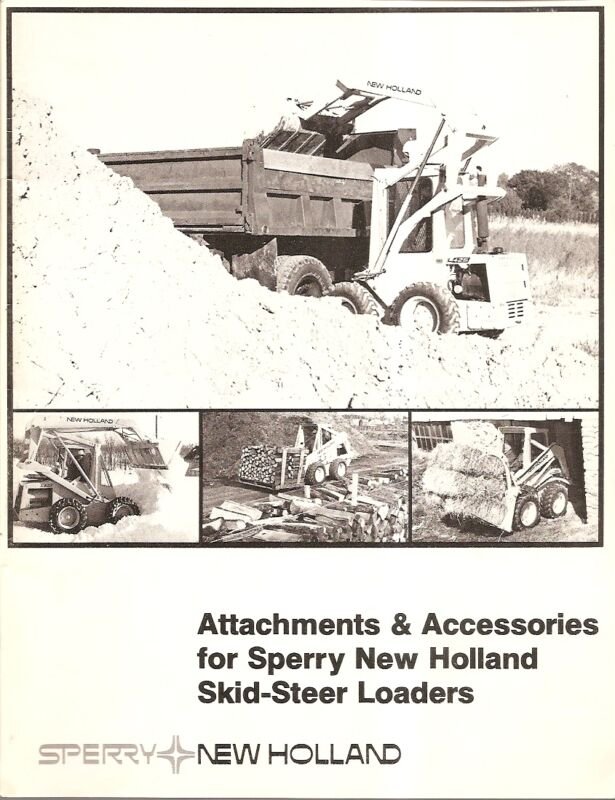 Equipment Brochure - Sperry New Holland - Skid Steer Loader Attachments (E1382)