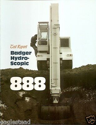 Equipment Brochure - Badger - 888 - Hydroscopic Boom Excavator - C1980 E1817