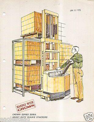 Fork Lift Truck Brochure - Crown - Walkie Stacker Tractor Picker 11 Itemslt198