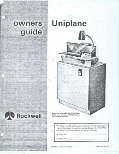 1977 Rockwell Delta Uniplane Owners Guide Instruction Maint Manual - 24 Pages CD