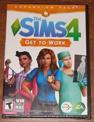 The Sims 4  Get To Work Expansion Pack For Pc  Windows Or Mac  New   Sealed