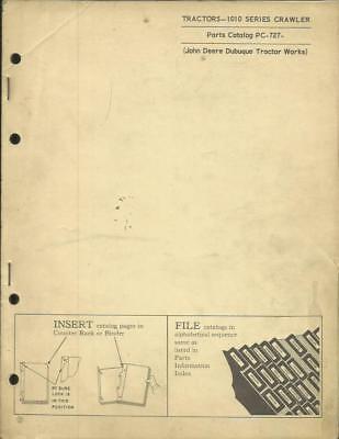 John Deere 1010 Series Crawler Tractor Parts Catalog