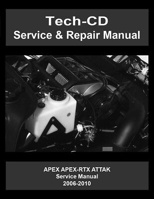 Yamaha Apex Apex-RTX Attak Service & Repair Manual 2006 2007 2008 2009 2010