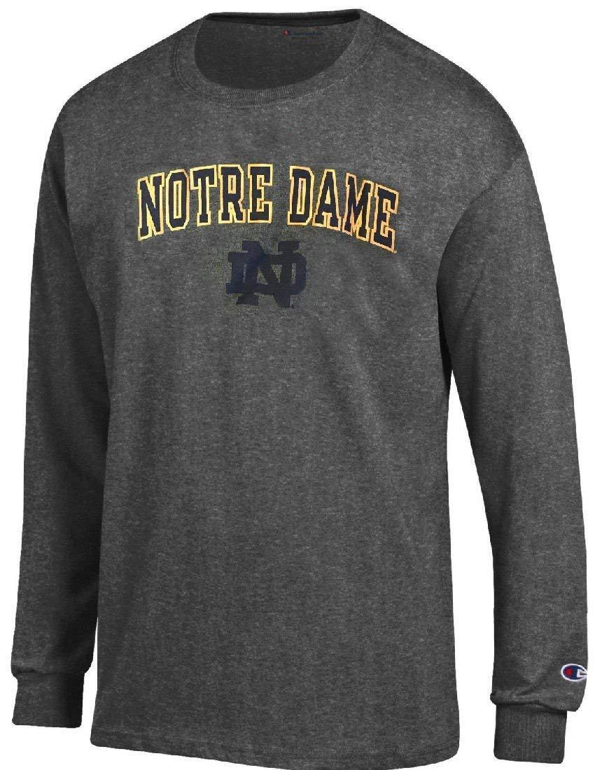 Notre Dame Fighting Irish Charcoal Alumni Champion Long Sleeve T