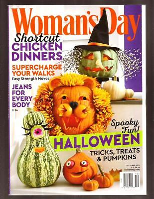 WOMAN'S DAY Magazine, October 2017, HALLOWEEN ISSUE, Pumpkins,Recipes,Spooky Fun - Halloween Pumpkin Recipes