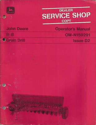 John Deere B-b Grain Drill Operators Manual