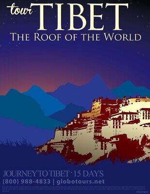US Seller- inexpensive home decor Travel Poster Tibet  travel ad poster (Inexpensive Home Decor)
