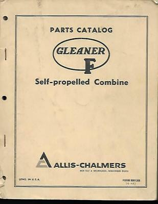 Gleaner F Self-propelled Combine Parts Catalog