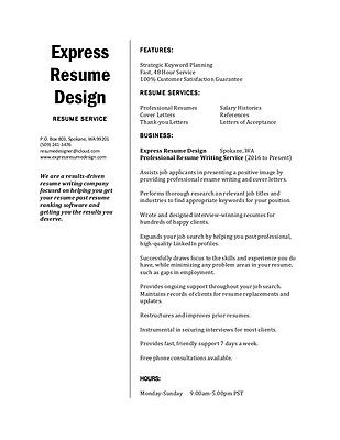 Resume Writing Service   One Page Resume   Cover Letter   Interview Winner