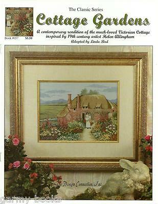 Victorian Cottage Gardens - Cottage Gardens Victorian Linda Bird Design Connection Cross Stitch Pattern NEW