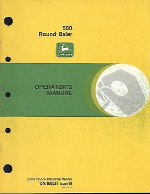 John Deere 500 Round Baler Operators Manual