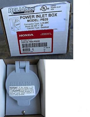 New Reliance Pb20 Power Inlet Box - Honda Generator Genuine Part