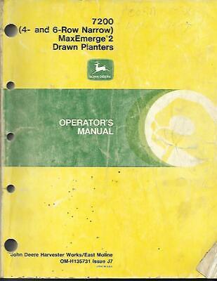 John Deere 7200 4- And 6-row Narrow Maxemerge 2 Drawn Planters Operators Manua