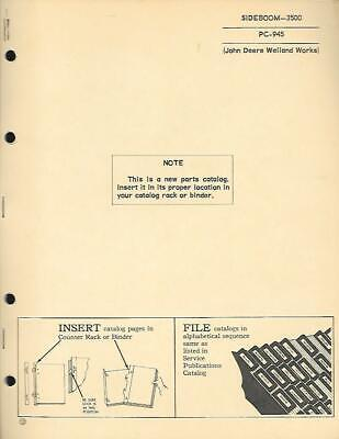 John Deere 3500 Sideboom Parts Catalog Vintage