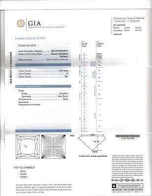 2.30 Ct Princess Cut Diamond Micro Pave Round Cut Bridal Ring Set  H,SI1 GIA 14K 2