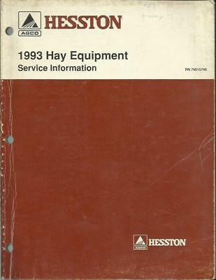 Hesston 1993 Hay Equipment Service Information Manual